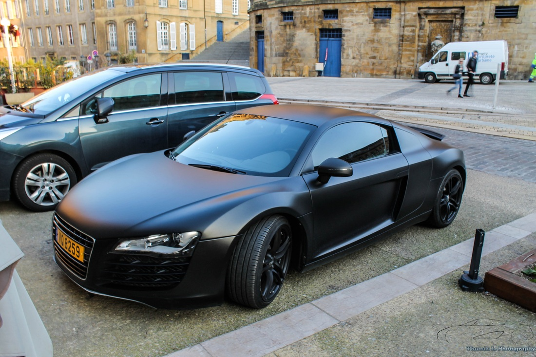 audi r8 v8 noir mat thomas l photography. Black Bedroom Furniture Sets. Home Design Ideas